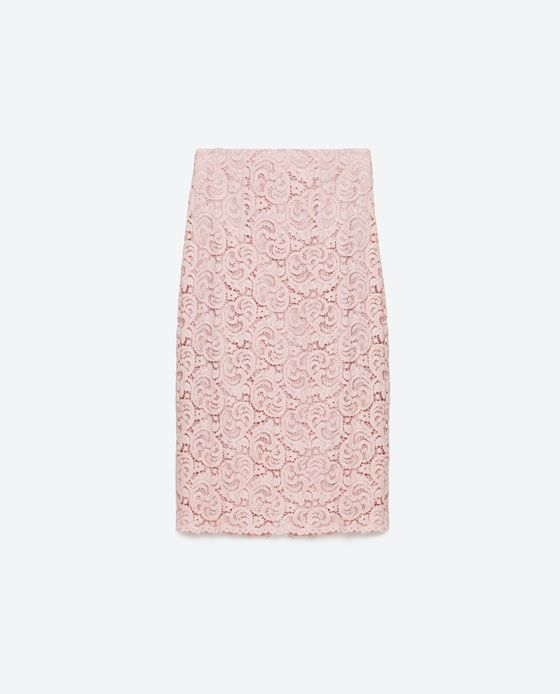 024ba597 Immagine 8 di GONNA TUBO LACE di Zara | Fashion High Street Finds ...