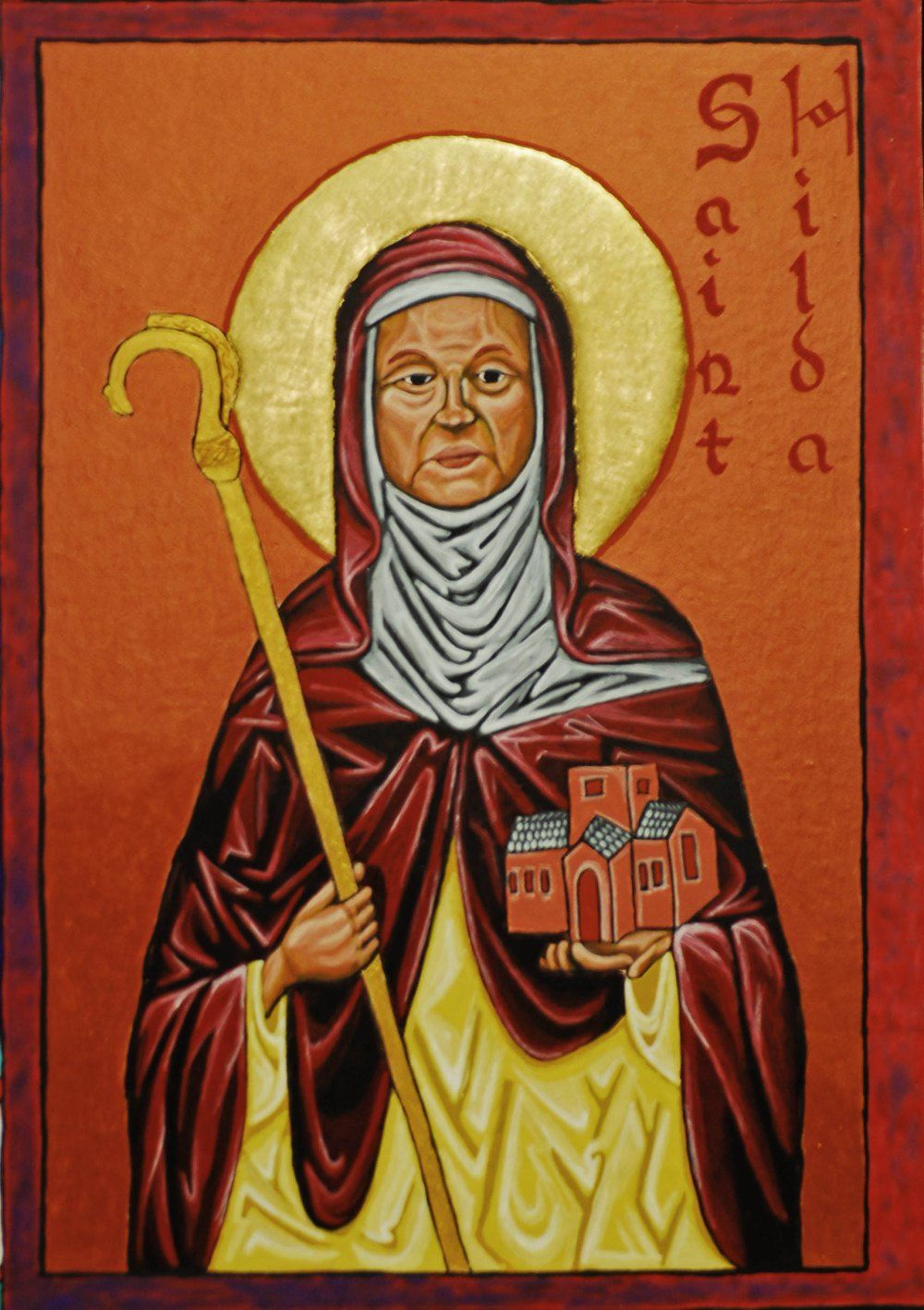 Br. Kenneth Holsey, OPC, sent us his icon of Hilda today, to be a blessing for us.