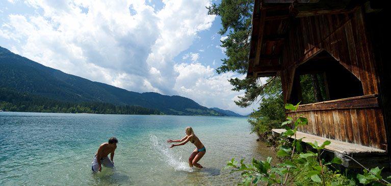 Weissensee : eau pure à 22° l'été !