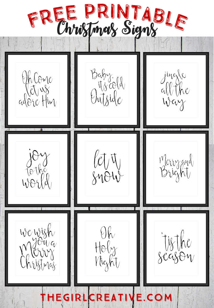 Free Printable Christmas Signs | Holiday words, Word art and Free ...