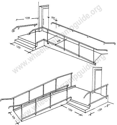 Wheelchair ramp plans available online for the garage for Handicap stairs plans