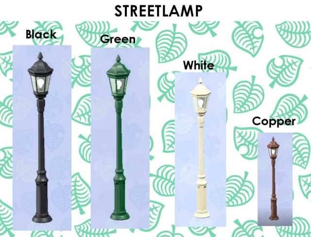 Acnh Street Lamp Street Lamp Green White Green