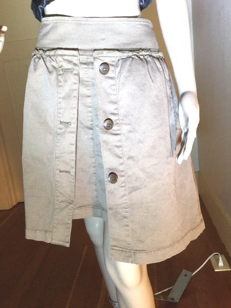 5b05a5d2b8 BCBG Sz L \Khaki Brown Best Travel Skirt Ever! Layered 2 Huge Hidden  Pockets #BCBG #TravelSkirt