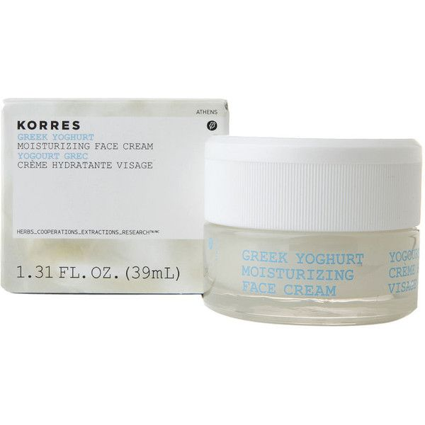 KORRES Greek Yoghurt Moisturizing Face Cream 1.31 oz (39 ml) ($36) ❤ liked on Polyvore featuring beauty products, skincare, face care, face moisturizers, korres and face moisturizer