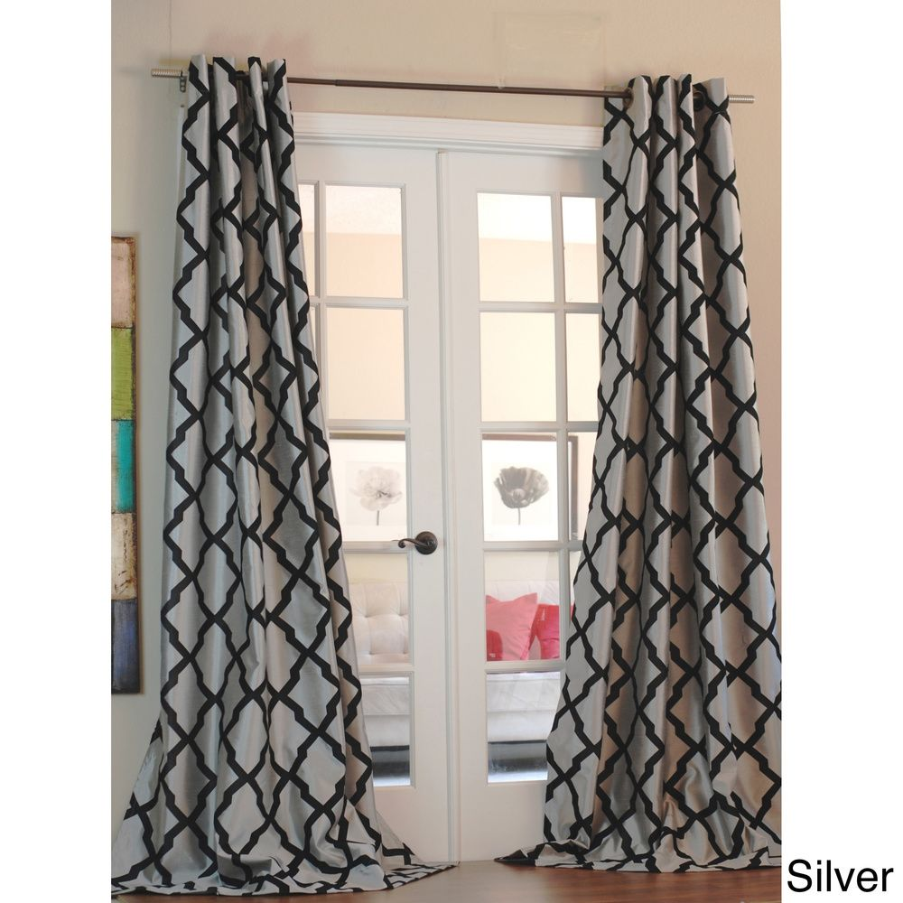 set dp driftaway insulated thermal gray room of two grommet curtain window trellis geometric curtains panels darkening unlined each