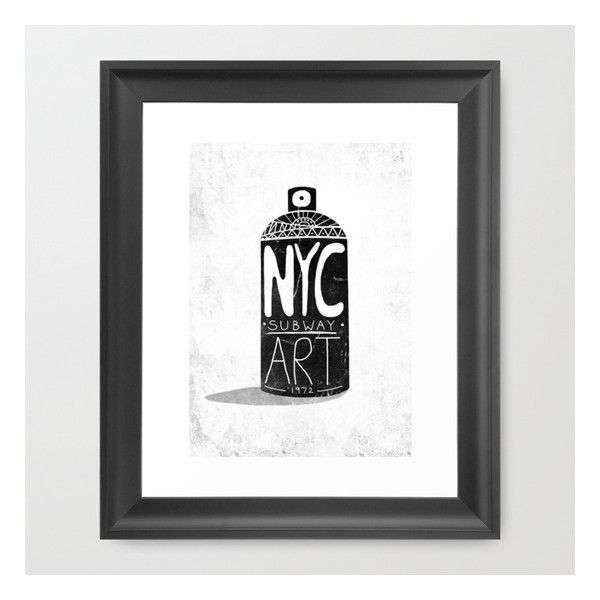 Nyc 1972 Framed Art Print ($36) ❤ liked on Polyvore featuring home, home decor, wall art, framed art prints, framed wall art, black & white wall art, home wall decor, black and white home decor and nyc home decor