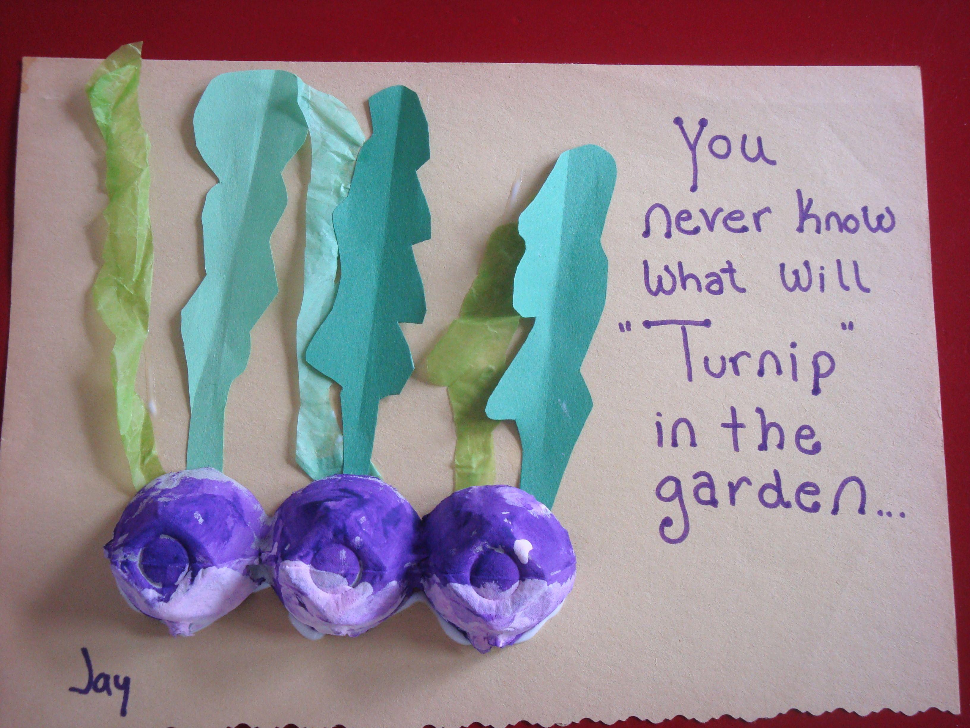 The Playful Garden Egg Carton Turnips