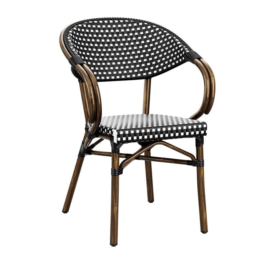 Of36 Panda Arm Chair Fauteuil Exterieur Chaise Exterieur Mobilier Restaurant