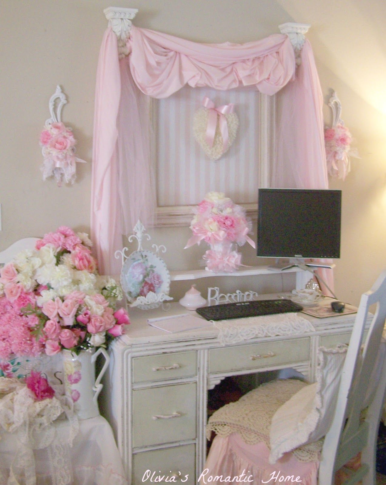 Shabby Chic Decorating:wonderful Bedroom Shabby Chic Home Office Decor Shabby  Chic Bedroom Ideas