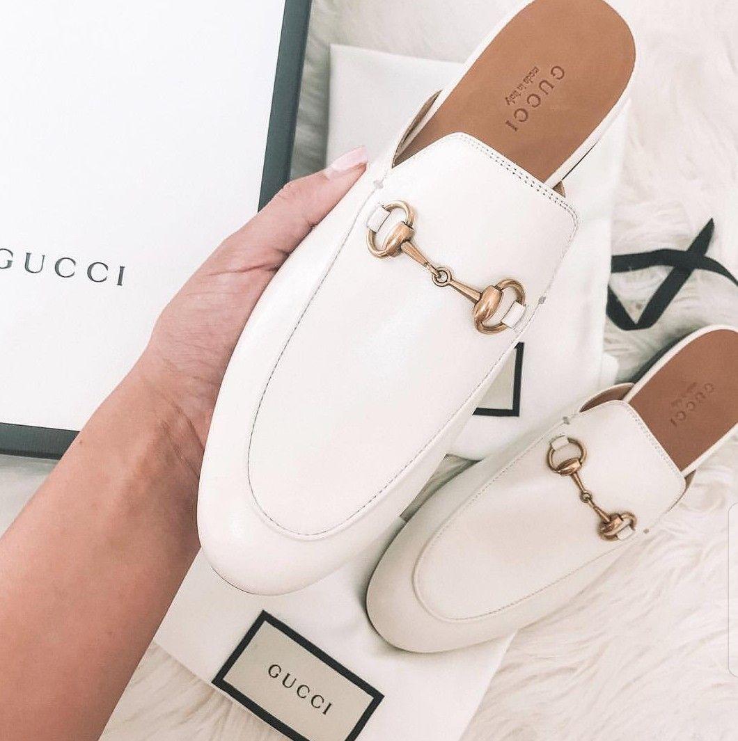 White Gucci loafers | White gucci