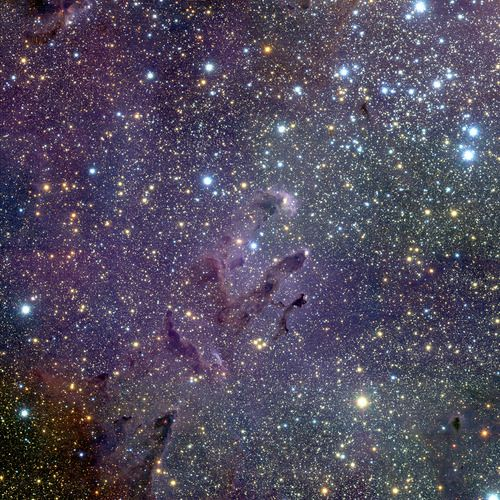 Messier 16 (M16), also known as the Eagle Nebula, is located in the southern constellation of Serpens (the Snake).  Credit: ESO/M.McCaughrean & M.Andersen (AIP)