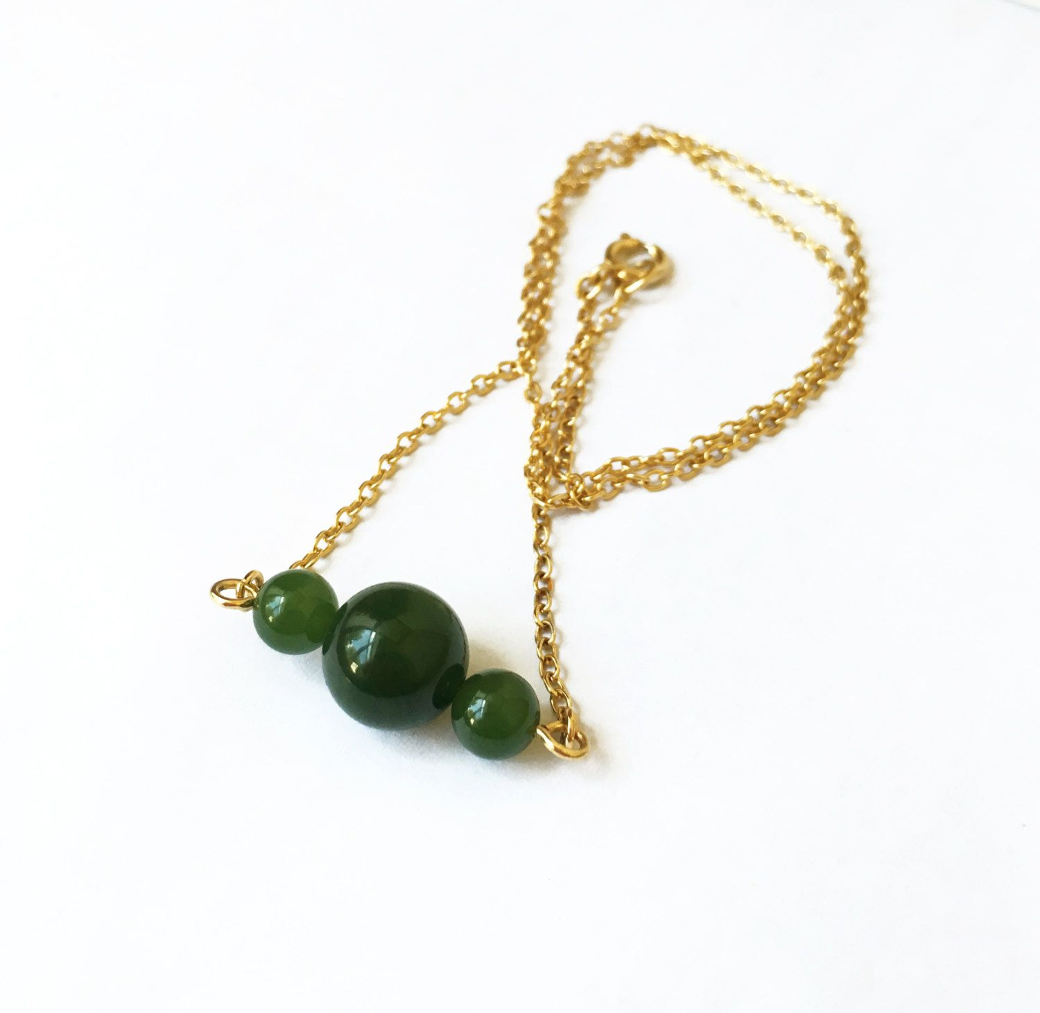 Jade Green Chained Necklace