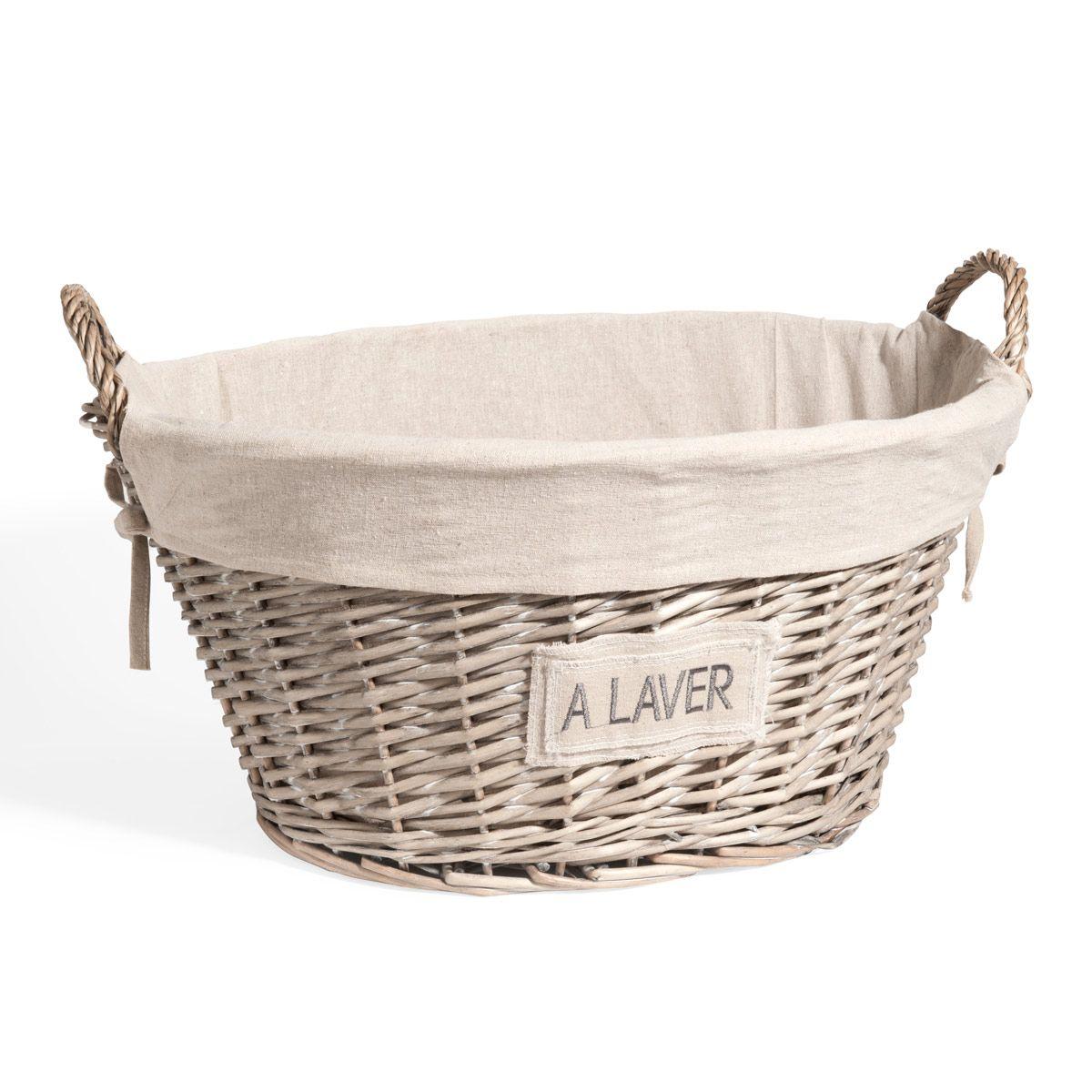 Wäschekorb Vintage wäschekorb style rustique français wäschekörbe