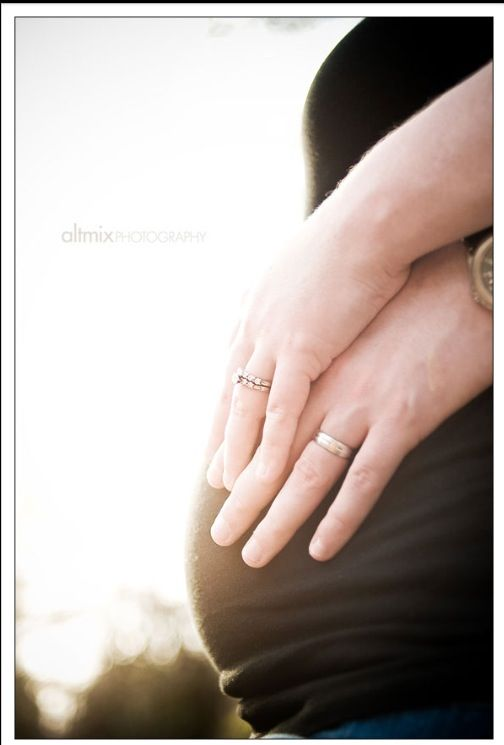 Wedding rings and pregnant belly Maternity photography ideas