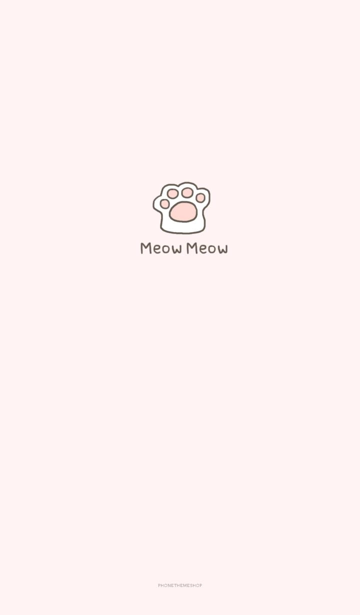 안녕하세요 폰테마샵 다예입니다 이번 카톡테마는 냥냥펀치 고양이발바닥을 그린 심플한 일러스트에요 Cikartma Arkaplan Tasarimlari Instagram Alintilari