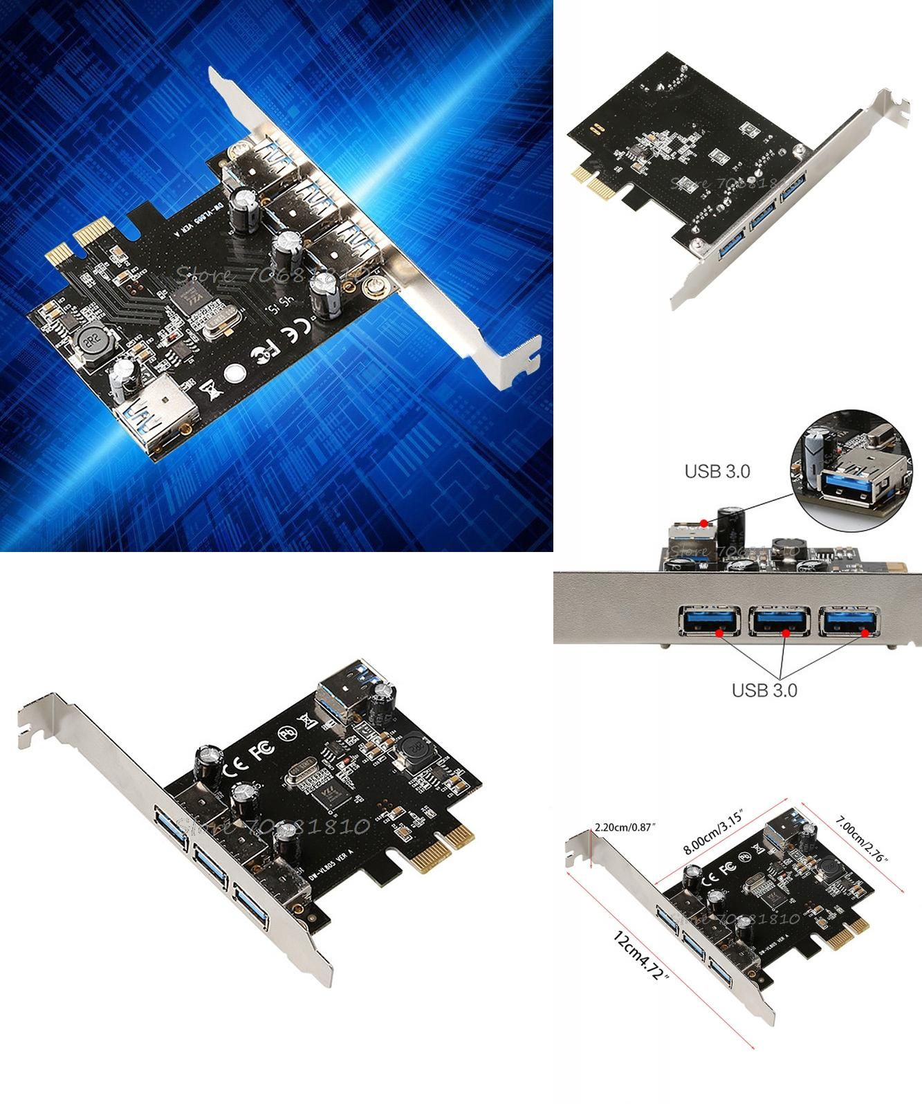 Visit To Buy Super Speed 4 Port Usb 30 Pci E Pcie Express Card