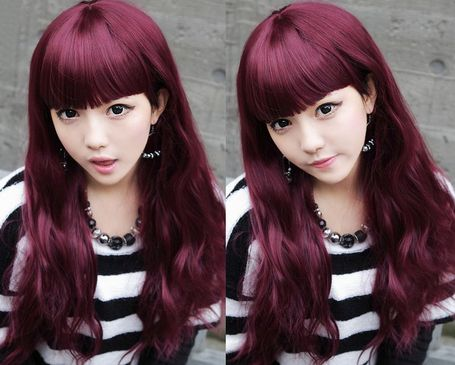 Red Violet Hair Color Capelli Irisee Red Hair Color