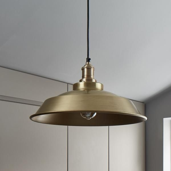 Brooklyn vintage step metal lampshade brass 16 inch ceiling brooklyn vintage step metal lamp shade brass 16 inch aloadofball Image collections