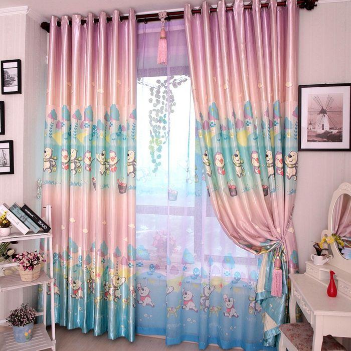 Kinderzimmer Ideen mit Kindergardinen - gardinen fürs wohnzimmer