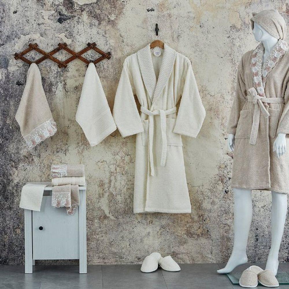 طقم أرواب فاخر للإستحمام قطن 16 قطعه Robe Fashion