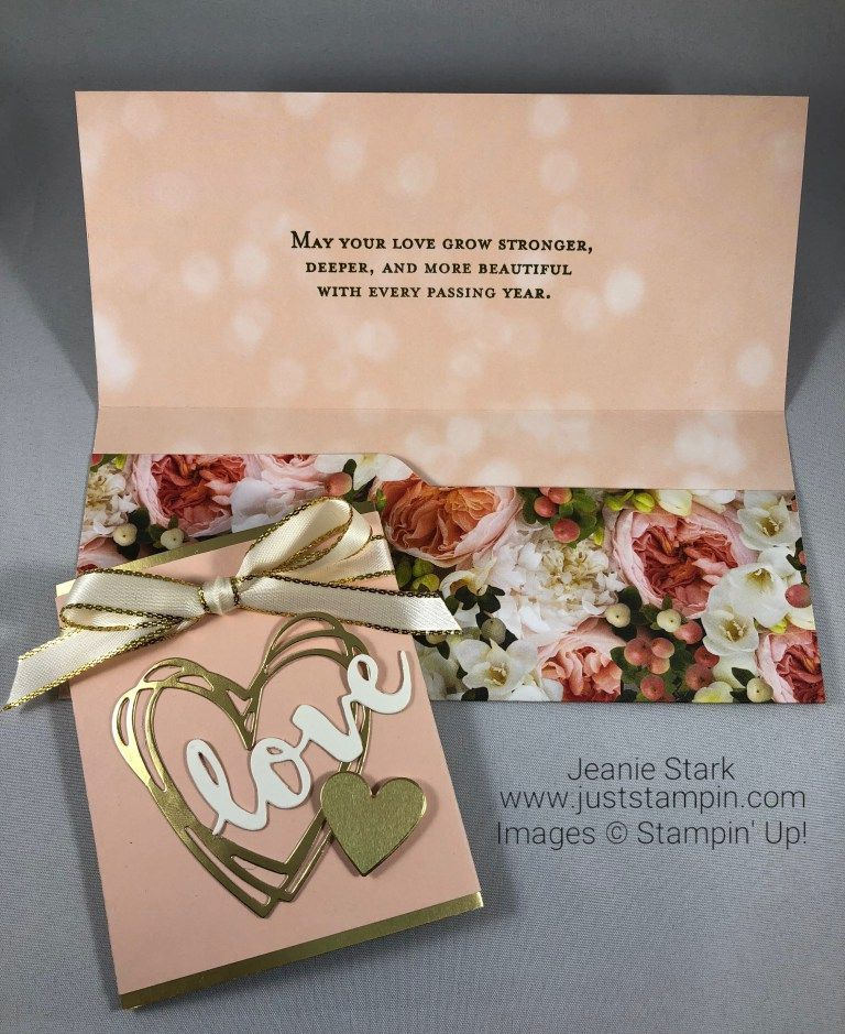 Stampin Up Sunshine Wishes Wedding Card Money Holder Idea Jeanie Stark Stampinup Wedding Cards Stampin Up Wedding Cards Wedding Gift Money
