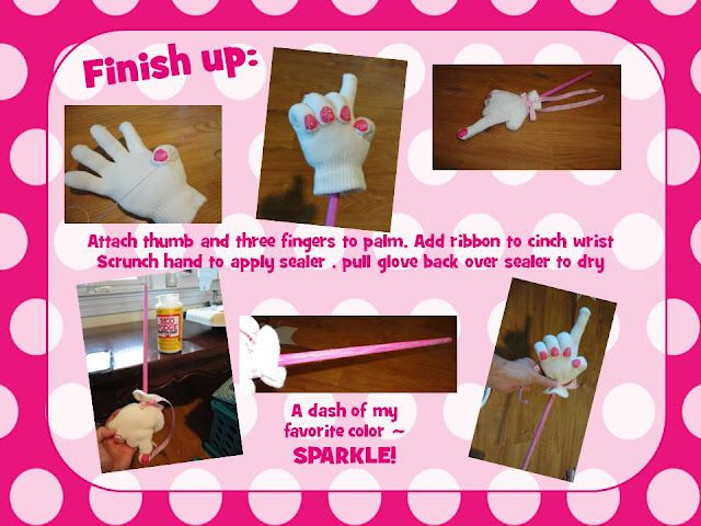 Super Cute! Making a pointer from a glove