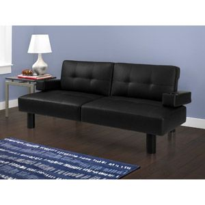 mainstays connectrix futon black faux leather for my home office studio lounge mainstays connectrix futon black faux leather for my home office      rh   pinterest