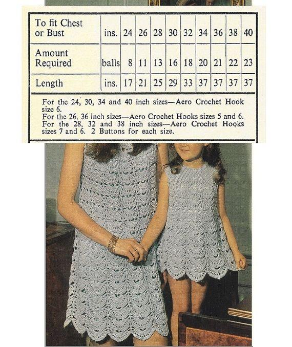 Crochet DRESS Pattern Vintage 70s Crochet Mom and by Liloumariposa ...