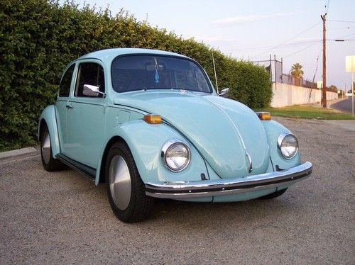 1973 Volkswagen Bug With Moon Salt Disc Hubcaps Bug Car