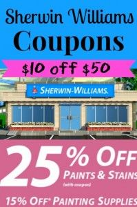Sherwin Williams Coupon 10 Off And 25 Off Paint And Stain