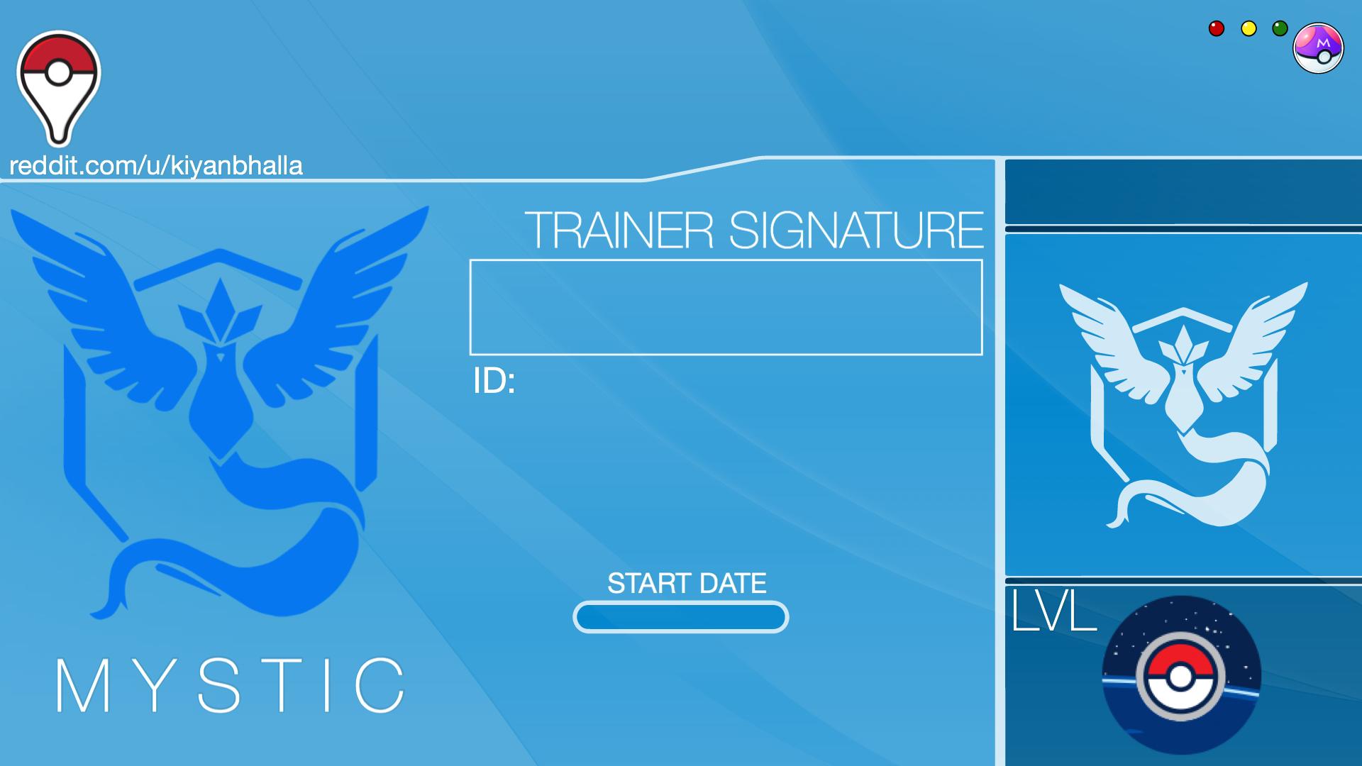 Team Mystic Trainer ID Template Team mystic, Funny jokes