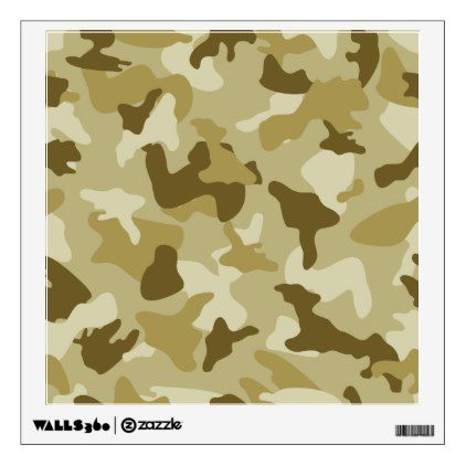 Yellow sand camo camouflage army pattern wall decal