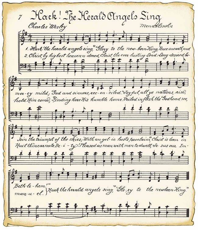 Free printable Christmas Music song sheets via VintageFeedsacks ...