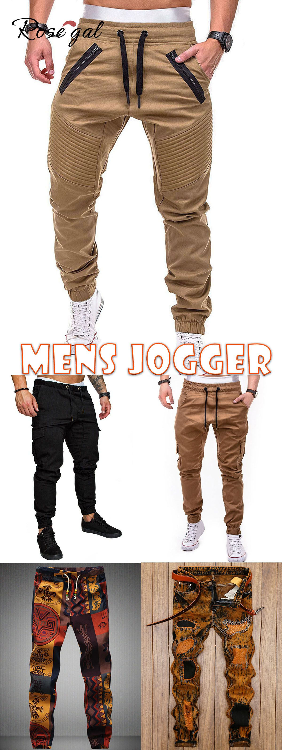 Rosegal Faux Back Pocket Zipper Decorated Jogger Pants