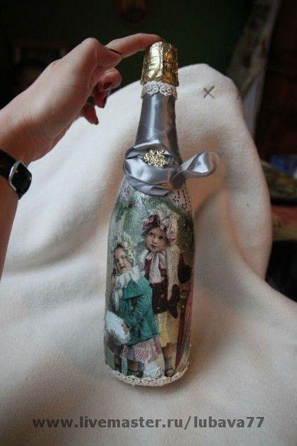 Новый год 2015 ручной работы. Ярмарка Мастеров - ручная работа Винтажная бутылочка. Handmade.