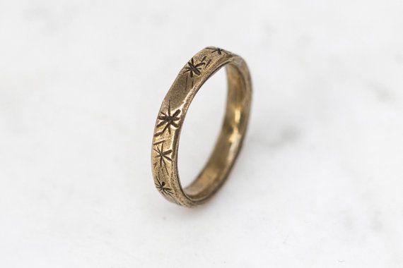Posey ring - brass on Etsy, $82.05