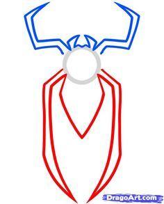how to draw the spiderman logo spiderman symbol step 3 kid rh pinterest com spiderman logo drawing easy spiderman logo drawing step by step