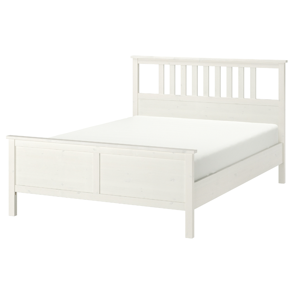 Hemnes Bed Frame White Stain Queen Ikea In 2020 Ikea Hemnes Bed Hemnes Bed Bed Frame