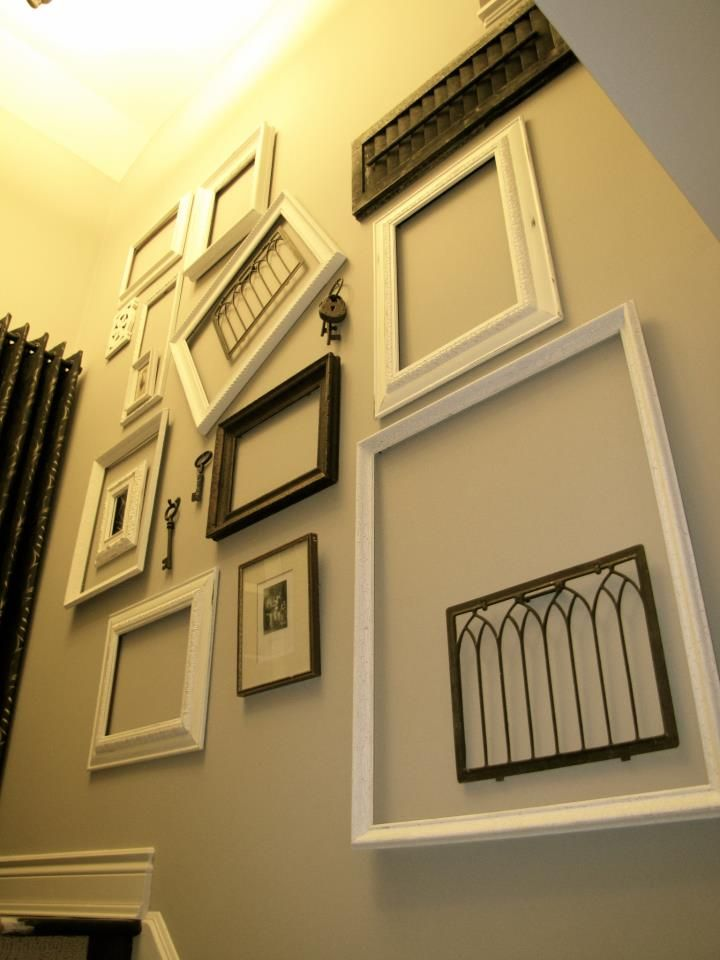 DRE Designs created an empty frame accent wall using Old White Chalk ...