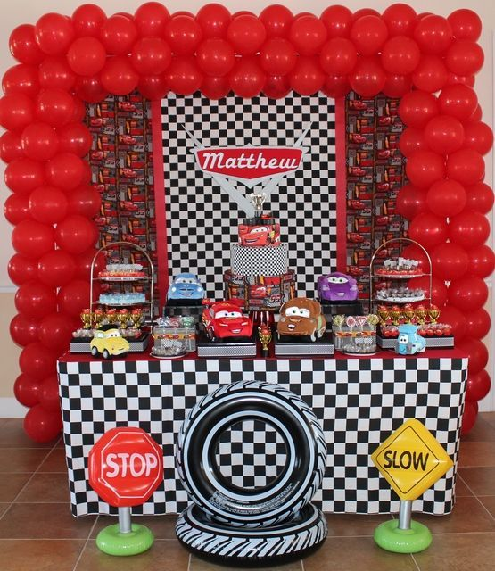 disney cars birthday party birthday ideascars partyfiestas infantileskid birthday party idealparty ideasparty party partyparty time