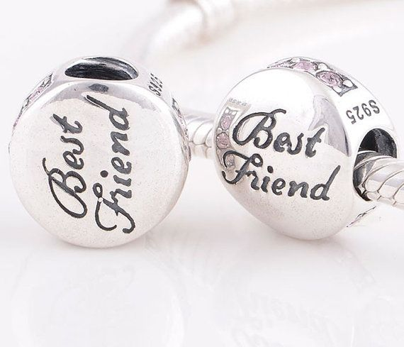 ab8a78486 sterling silver charm with zircons BEST FRIEND, Bead For European ...