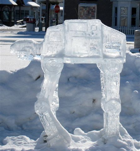 ice sculptures could be a really cool way to make an impact if you know we'll have a cold snap.