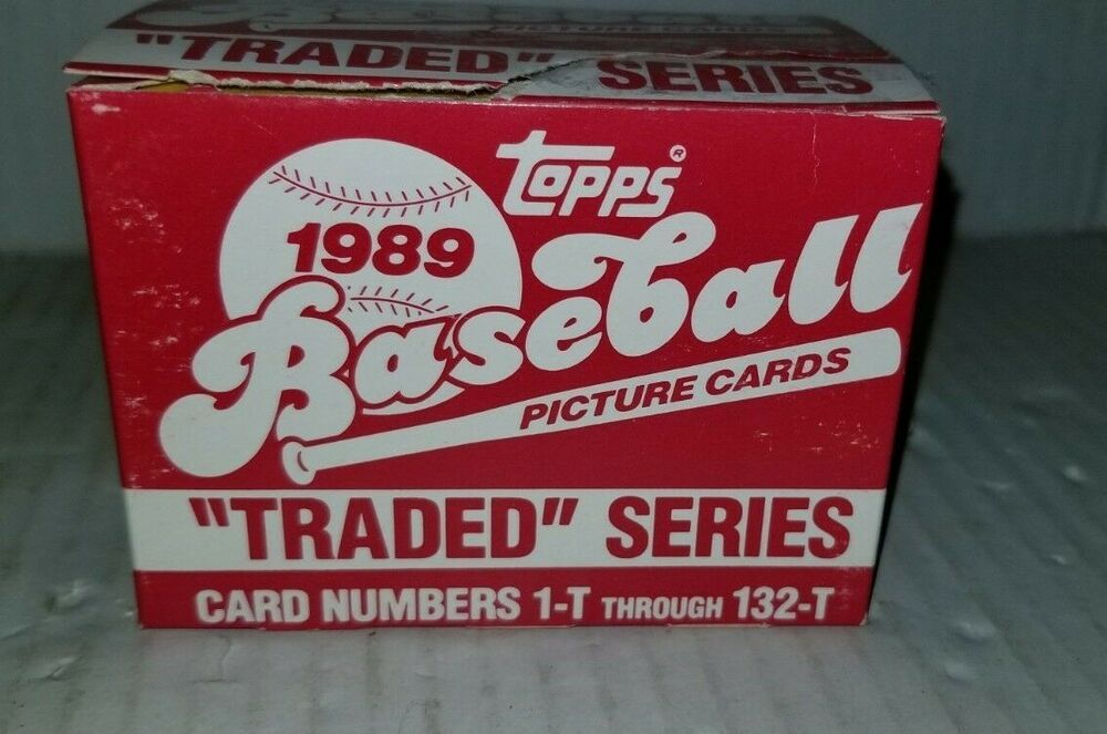 1989 topps baseball picture cards traded series card