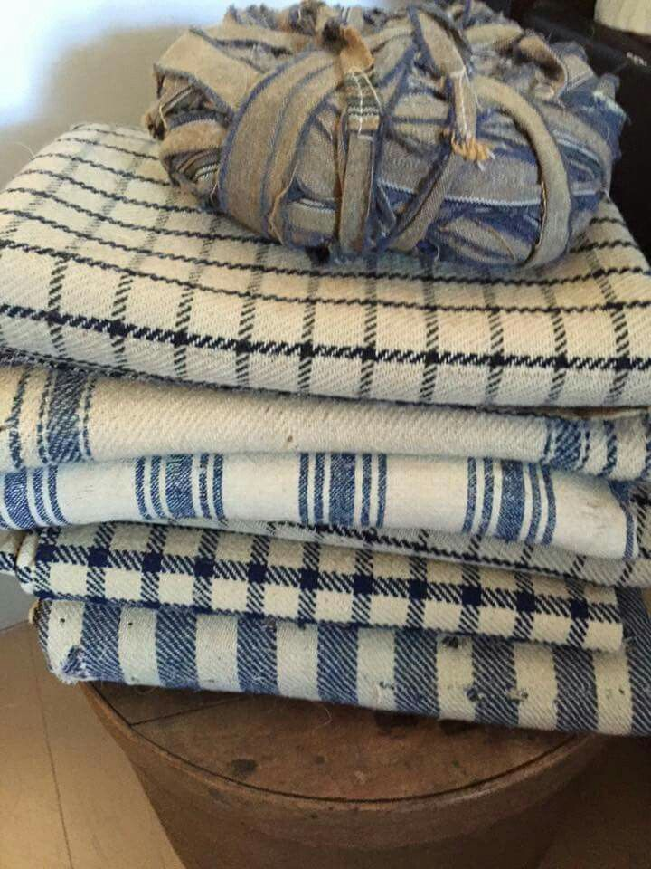 Plaid Bedding Country Blue Fabric Samples Wool Blanket