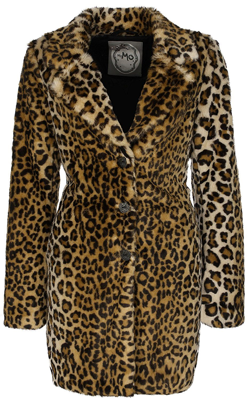 myMO Mantel Damen 28536163 leo, XL: Amazon.de: Bekleidung
