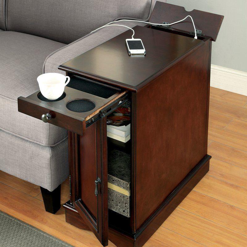 Kipling End Table With Storage Living Room Storage Diy