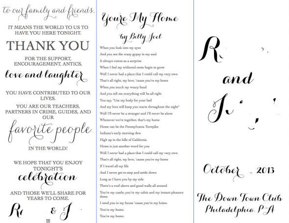 Program Outline with format to go by Wedding Pinterest - wedding agenda sample