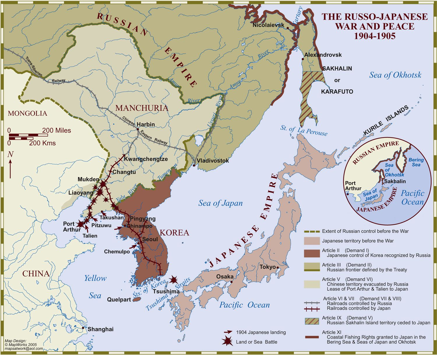 1904 1905 russo japanese war russian revolution prelude maps russo japanese war and peace map gumiabroncs Choice Image