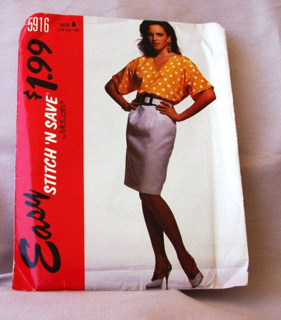 1992 Uncut  Easy Stitch n Save Easy  by lovelylovepatterns on Etsy, $4.00