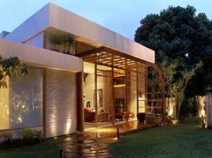 Fachadas de casas modernas sem telhado aparente casa for Fotos de casas modernas com telhado aparente